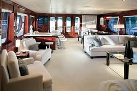 Tiger Woods yacht privacy interior